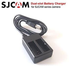 Microware Dual Charger Dual-slot Battery Charger USB Cable for SJCAM SJ4000 Series / SJ5000 Series / M10 Series camera