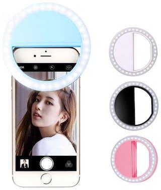 Mini Selfie Ring Light with Cell Phone Holder for Live Stream/Makeup,Led Camera Ring Light for YouTube
