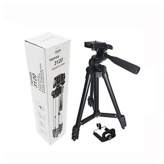 MS TRADING COMPANY TF-3120  Extendable 3.5 Feet Tripod Stand for Mobile, GoPro & DSLR Camera