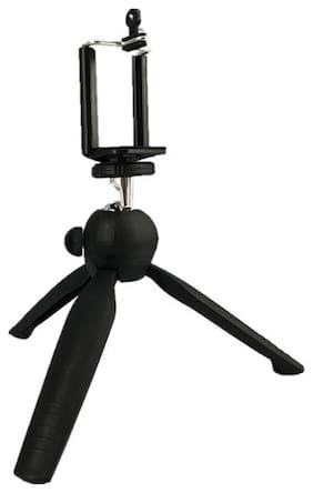 MS TRADING COMPANY YT-228A Non Extendable 25.5cm Tripod Stand for Mobile, GoPro (Usage for vlogging)
