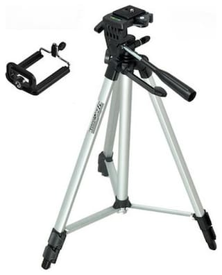 MS TRADING COMPANY 330A Extendable 5 Feet Tripod Stand for Mobile, GoPro & DSLR Camera
