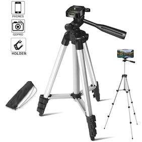 MS TRADING COMPANY MB-3110 Extendable 3.5 Feet Tripod Stand for Mobile, GoPro & DSLR Camera