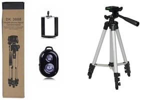 QUXXA TF-3888  Extendable 3.5 Feet Tripod Stand for Mobile  GoPro & DSLR Camera