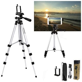 QUXXA MS-3110 Extendable 3.5 Feet Tripod Stand for Mobile  GoPro & DSLR Camera