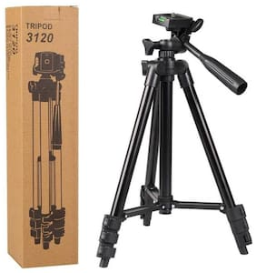 QUXXA COMPANY MS-3120 Extendable 3.5 Feet Tripod Stand for Mobile, GoPro & DSLR Camera