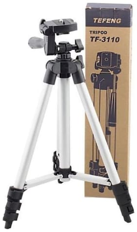 QUXXA Tripod-3110 Portable Adjustable Aluminum Lightweight Camera Stand Tripod Kit Tripod  (Black  Supports Up to 1900 g)