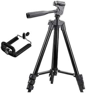 Mzee 3120 Alluminum Adjustable Tik Tok Tripod  With Universal Mobile Clip Compatible With All Smartphones
