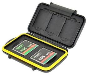 NEW JJC MC-XQDCF5 Memory Card Hard Case for 3 XQD + 2 CF Cards Secure with lock
