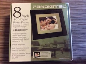 "NEW Pandigital Photo Frame 8"" LCD PAN812-B Digital Photo Frame"
