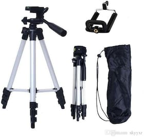 New Tripod Stedy 450 with 4.5 Feet Pan Head + Extra Quick Release Plate + Foam Grip + Carry Case