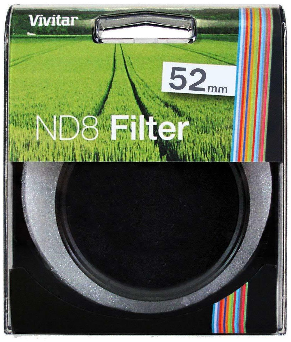 NEW Vivitar 52mm ND8 Filter   VIV ND8 52