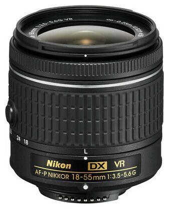 Nikon 18 55 mm f/3.5 5.6G VR AF P DX Nikkor Lens for Nikon DSLR Cameras