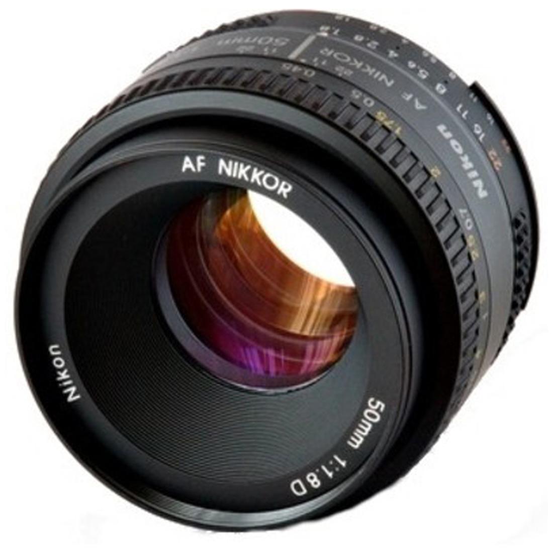 Nikon AF Nikkor 50 mm f/1.8D Lens  Black  by Best Deal Camera Point