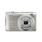 Nikon Coolpix A100 20.1 MP Point   Shoot Camera  Silver  + Carry Case + 16 GB SD Card by AJAY ENTERPRISES