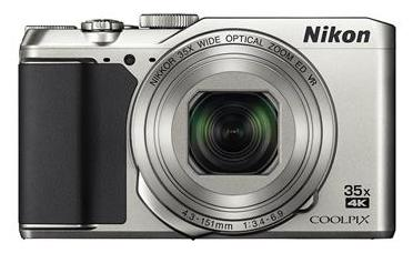 Nikon Coolpix A900 20.3 MP High Zoom Point & Shoot Camera (Silver) + HDMI Cable + Carry Case + 16GB SD Card