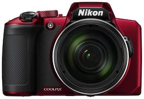 Nikon Coolpix B600 16 MP Digital Camera with Carry Case + HDMI Cable + 16 gb SD Card (Red)