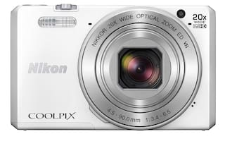 Nikon Coolpix S7000 16 MP Advanced Point & Shoot Camera (White) + HDMI Cable + Carry Case + 8GB SD Card
