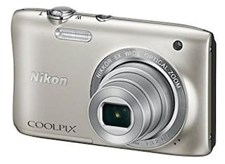 Nikon Coolpix S2900 20.1 MP Point & Shoot Camera (Silver) + Carry Case + 8GB SD Card
