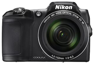 Nikon Coolpix L840 16 MP High Zoom Point & Shoot Camera (Black) + HDMI Cable + Carry Case + 8GB SD Card