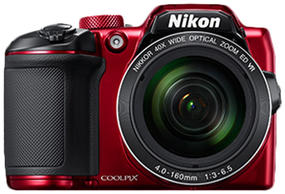 Nikon Coolpix B500 16 MP High Zoom Point   Shoot Camera  Red  + HDMI Cable + Carry Case + 16 GB SD Card