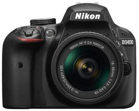 Nikon D3400 W/ AF-P DX NIKKOR 18-55mm F/3.5-5.6G VR (Black) + Bag + 16GB Memory Card