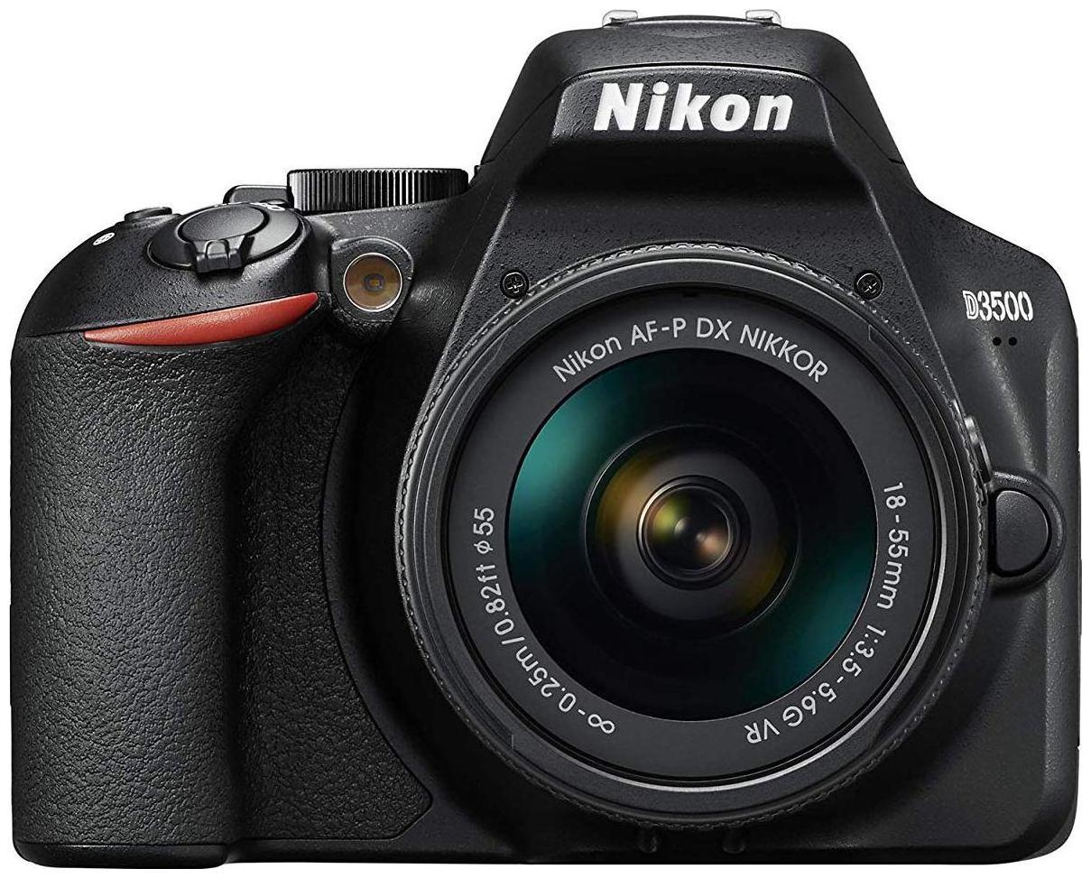 Nikon D3500 Kit  AF P DX Nikkor 18 55mm f/3.5 5.6G VR  DSLR Camera  Black  by Phototrack