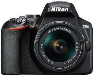 Nikon D3500 Kit (AF-P DX Nikkor 18-55mm f/3.5-5.6G VR) DSLR Camera (Black)