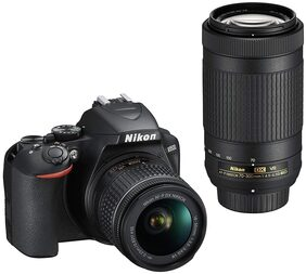 Nikon D3500 Kit (AF-P DX Nikkor 18-55mm f/3.5-5.6G VR & AF-P DX Nikkor 70-300mm f/4.5-6.3G ED) DSLR Camera (Black)