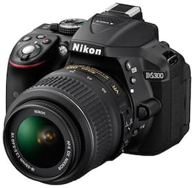 Nikon D5300 Kit (AF-P 18-55 mm VR Kit Lens) 24.2 MP DSLR Camera (Black) + FREE Nikon DSLR Bag + 16GB Memory Card