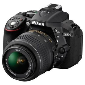 Nikon D5300 Kit (AF-P 18-55 mm VR Kit Lens) 24.2 MP DSLR Camera (Black) + FREE Nikon DSLR Bag + 16GB Memory Card