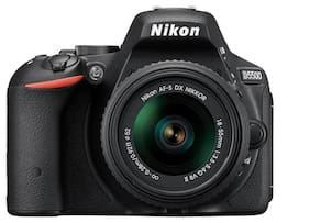Nikon D5500 (With AF-P DX NIKKOR 18-55 mm f/3.5-5.6G VR Lens) DSLR 24.2 MP Camera (Black) + FREE Nikon DSLR Bag + 16GB Memory Card