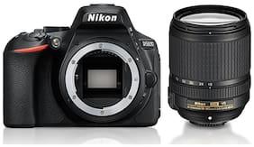 Nikon D5600 Kit  AF S DX NIKKOR 18 140 mm F/3.5 5.6G ED VR Lens  24.2 MP DSLR Camera  Black  + FREE Nikon DSLR Bag + 16 GB Memory Card