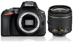 Nikon D5600 Kit (AF-P DX NIKKOR 18-55mm F/3.5-5.6G VR) DSLR Camera (Black) + FREE Nikon DSLR Bag + 16GB Memory Card