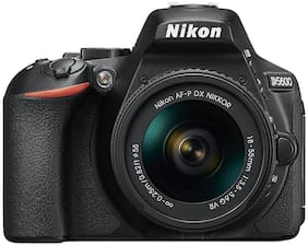 Nikon D5600 Kit (AF-P DX NIKKOR 18-55mm F/3.5-5.6G VR) DSLR Camera (Black) + FREE Nikon DSLR Bag + 16GB Memory Card