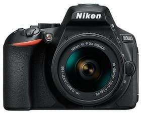 Nikon D5600 Kit (AF-P DX 18-55 Mm VR + AF-P DX NIKKOR 70-300mm F/4.5-6.3G ED VR Kit Lenses) 24.2 MP DSLR Camera (Black) + FREE Nikon DSLR Bag + 16GB Memory Card