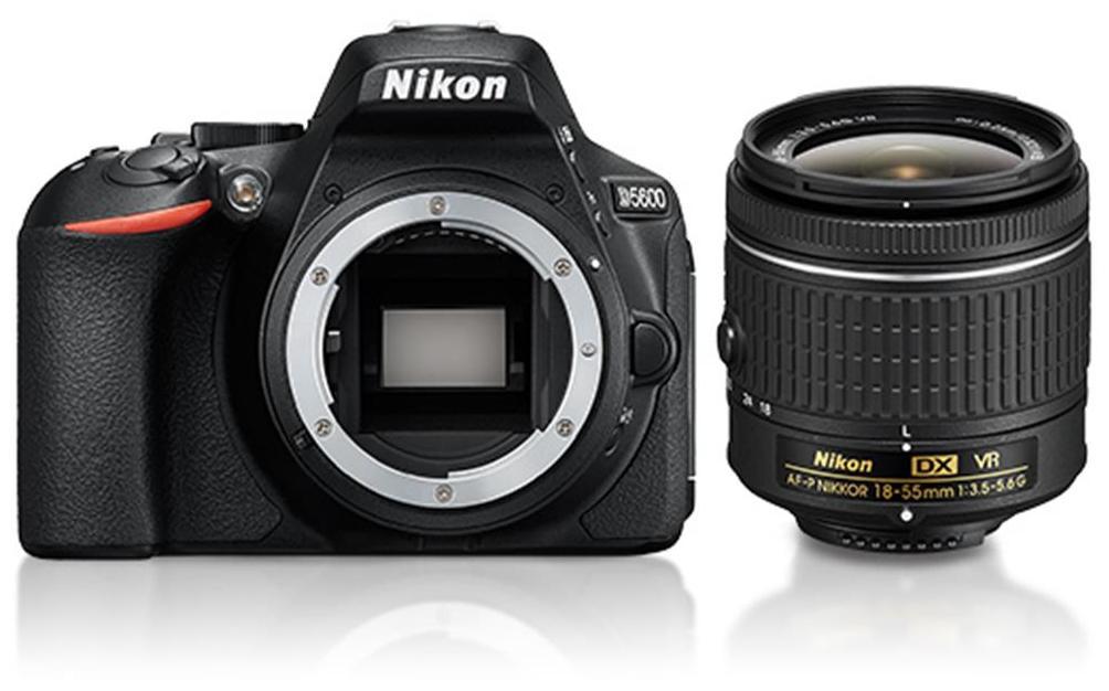 Nikon D5600 W/ AF-P DX NIKKOR 18-55mm F/3.5-5.6G VR (Black) + FREE Nikon DSLR Bag + 16GB Memory Card