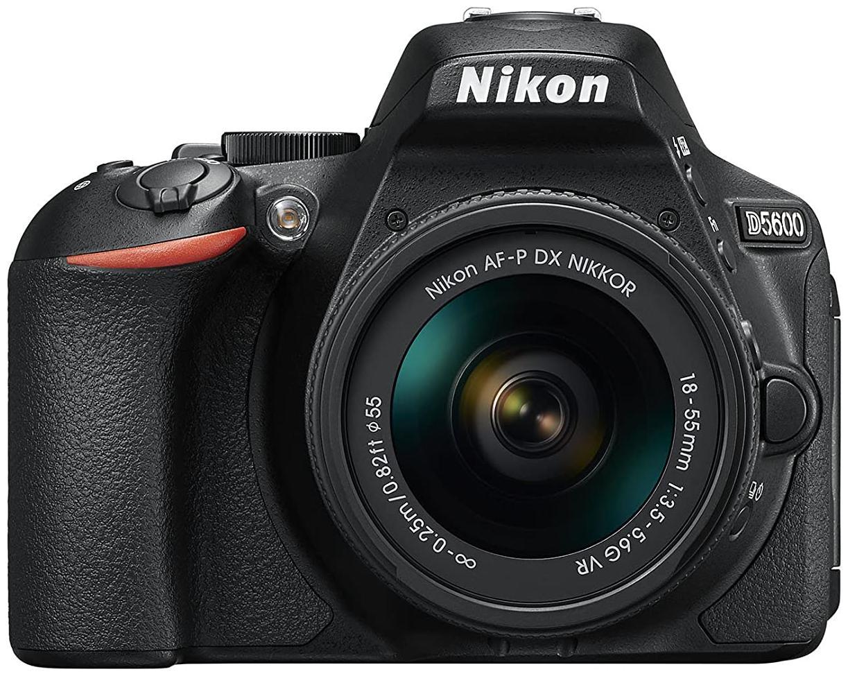 Nikon D5600 Kit  AF P DX NIKKOR 18 55mm F/3.5 5.6G VR  DSLR Camera  Black  by Phototrack