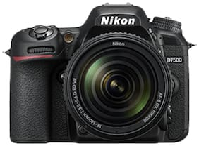 Nikon D7500 (With AF-S DX NIKKOR 18-140 mm F/3.5-5.6G ED VR Lens) 20.9 MP DSLR Camera (Black) + FREE Nikon DSLR Bag + 8GB Memory Card