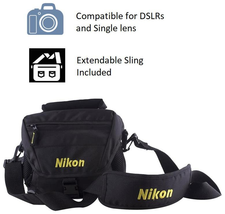 Nikon Dslr bag Shoulder bag   Black