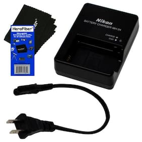 Nikon Quick Battery Charger for EN-EL14 Battery +HeroFbr f/ D5100 D5200 & D5300