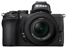 Nikon Z50 Kit (Z DX 16-50mm f/3.5-6.3 VR) 20.9 MP Mirrorless Camera (Black)