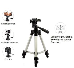 Noise 1.3M DSLR/Mobile/Action Camera Way pan & tilt Light Weight Pro-Travel Tripod (Silver)