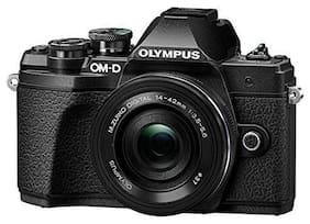 Olympus OM-D E-M10 Mark III Kit (EZ-M1442-EZ + EZ-M4015-R) 16.1 MP DSLR Camera - Black