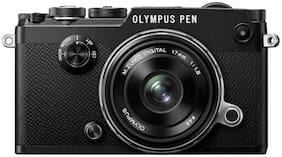 Olympus Pen-F & 17mm f/1.8 Lens Kit DSLR Camera (Black)