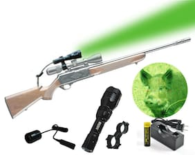Orion H25-G 200 Yard Green LED Hog Hunting Light w/ Pressure Switch Rifle Mounts