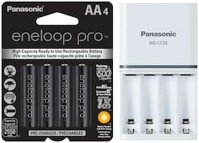 Panasonic Battery Eneloop pro 2550 mAh Battery + Smart Battery Charger