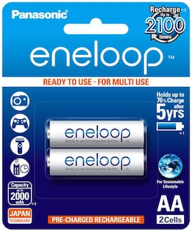 Panasonic eneloop BK-3MCCE/2BN Rechargeable Battery - (Pack Of 2)