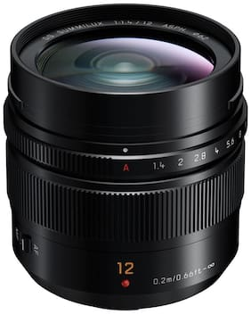 Panasonic Leica DG Summilux 12 mm f/1.4 ASPH Lens (H-X012, Black)