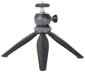 PICKMALL Mini Tripod 7 Inch-17 With 360 Degree Rotation Ball Hard With Mobile Clip For All Android & Iphone Smart Phone