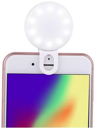 IMMUTABLE Portable Mini USB Rechargeable Clip on Selfie Light